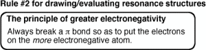 Evaluating Resonance Forms (2): Applying Electronegativity