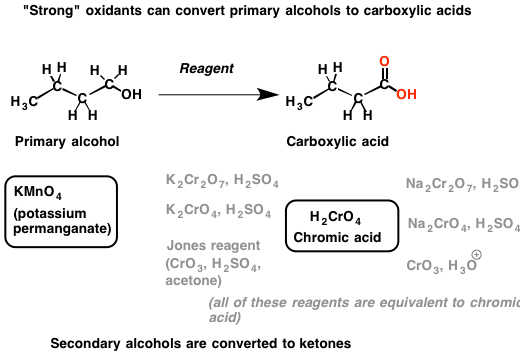 storng oxidant primary alcohol