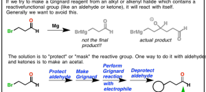 Protecting Groups In Grignard Reactions