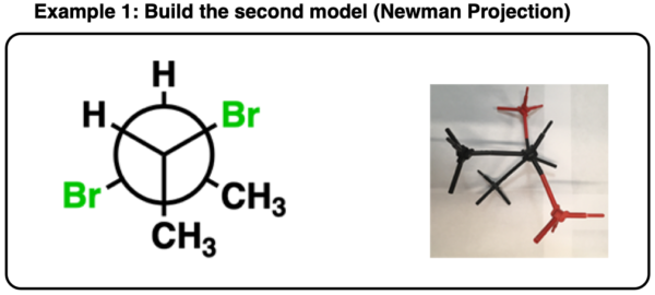 determining enantiomers vs diastereomers on a newman projection using a model kit