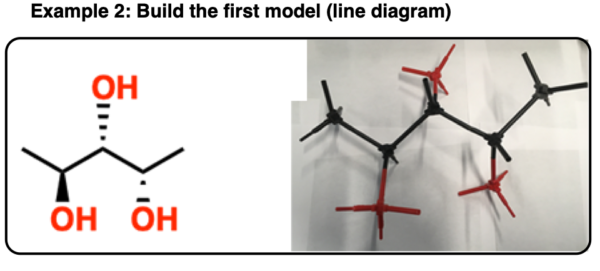 determining enantiomers vs diastereomers using model kit