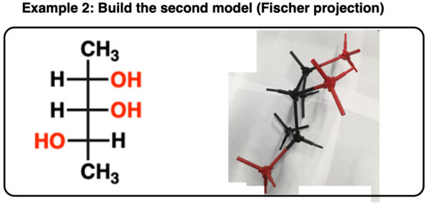 determining enantiomers vs diastereomers using model kit fischer projection